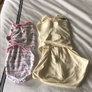 Halo Sleepsack Swaddle 3-6 mos and SwaddleMe 0-3